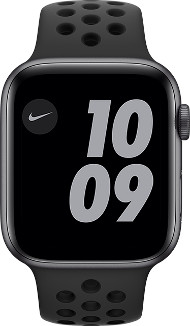 Apple Watch Nike Series 6 - 44 mm - Gris espacial - Aluminio negro antracita
