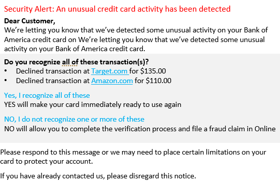 Trojan scam email