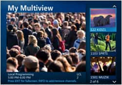 AT&T U-verse TV - Multiview screen