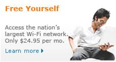 Access the nation's largest Wi-Fi network.for just $24.95 per month. Learn more.