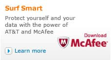 Protect yourself and your data with AT&T and McAfee