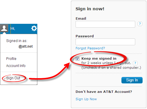 The Keep me signed checkbox (located above the Sign In button) is checked.