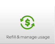 Refill & manage usage