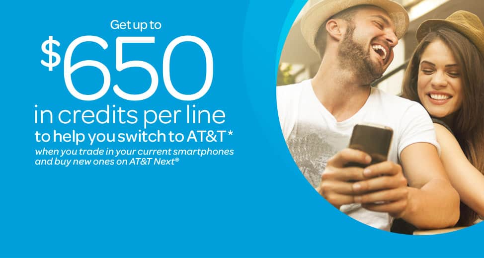 $650 Credit Switch to AT&T