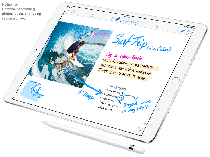 Notability - Combine handwriting, photos, audio, and typing in a single note.