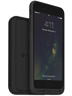 Mophie Charge Force Case & Wireless Charging Base Bundle - iPhone 7 Plus - Black