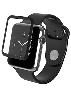 ZAGG InvisibleShield Glass Luxe Screen Protector Black 42mm - Apple Watch Series 1
