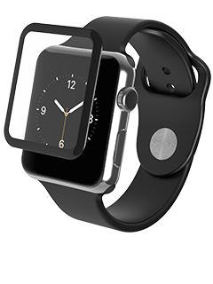 ZAGG InvisibleShield Glass Luxe Black 38mm Screen Protector- Apple Watch Series 2
