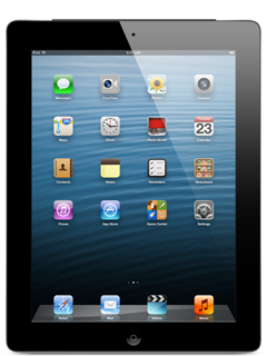 Apple iPad with Retina display Wi-Fi + Cellular 16GB - Black (Certified Like New)
