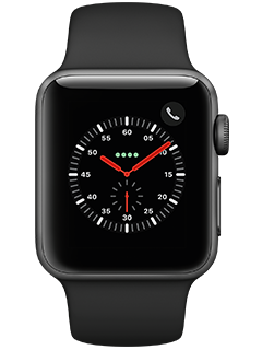 Apple Watch Series 3 (AT&T Certified Restored) - Space Gray Aluminum  - Black Sport - 38mm
