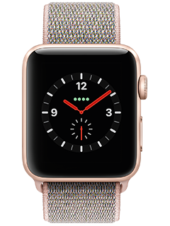 Apple Watch Series 3 (AT&T Certified Restored) - Gold Aluminum - Pink Sand Loop - 42 mm
