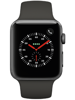 Apple Watch Series 3 (AT&T Certified Restored) - Space Gray Aluminum - Gray Sport - 42 mm