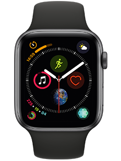 Apple Watch Series 4 (AT&T Certified Restored)  - 44mm - Space Gray Aluminum - Black Sport Band
