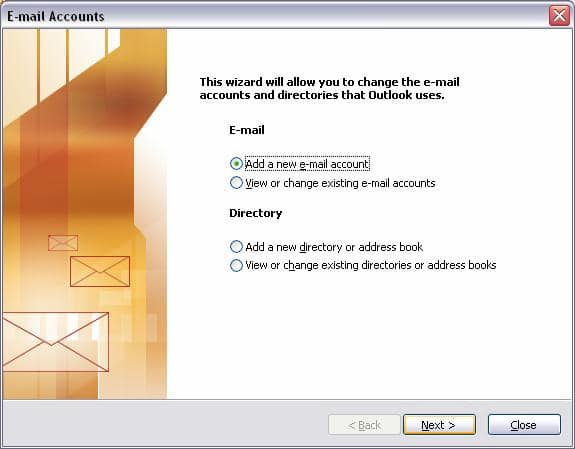 Set up your at amp t mail account in outlook 2002 or 2003 simply add a