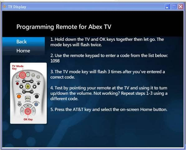 Uverse Remote Code for Samsung Blu Ray BD.