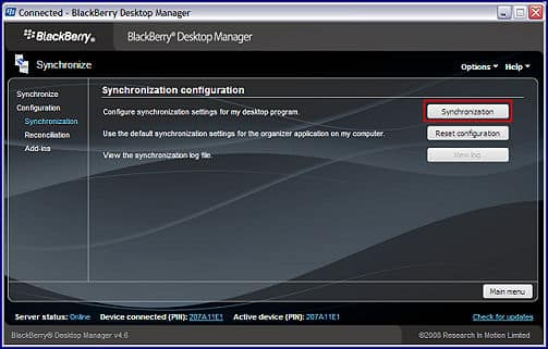 Blackberry Desktop Manager 4.6