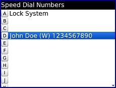 BlackBerry Bold 9700 - Create, Remove, or Use Speed Dial