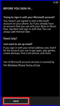 Sign in to a Windows Live or Hotmail Account with the HTC Windows