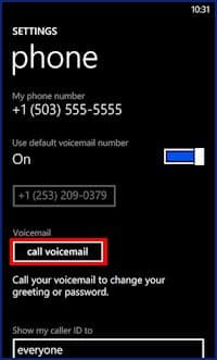 how to get voicemail password