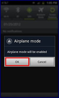 Samsung airplane mode control driver