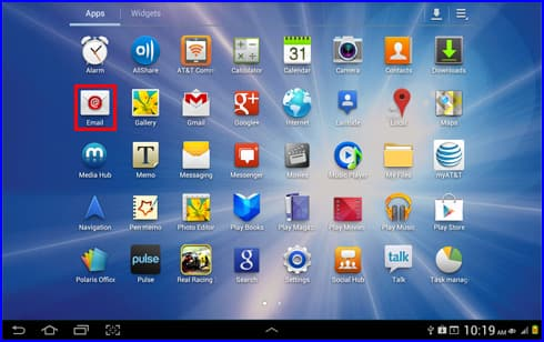 Send or Receive Email with the Samsung Galaxy Tab 8.9 (i957) using