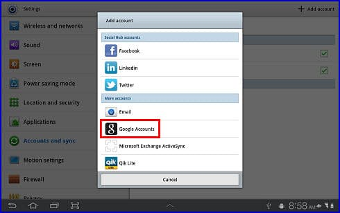 how to sign into google account on google play samsung