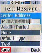 how to change sms message center on iphone