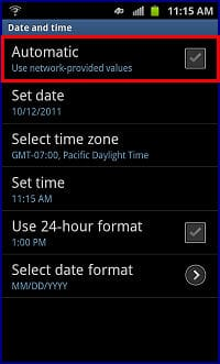 do iphones automatically change time zones set the time and date with samsung galaxy s ii skyrocket 18380
